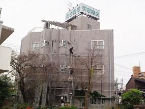 筑紫野市 和田商店様 オフィスビル外壁塗装工事施工前